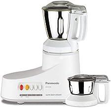 Panasonic AC MX-AC220-H 550-Watt Super Mixer Grinder with 2 Jars (White)
