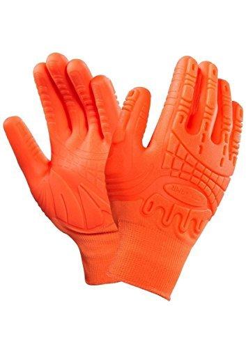 Ansell Madgrip 97-321R Tough Mudder Arbeitshandschuhe, Größe 9/L, Orange