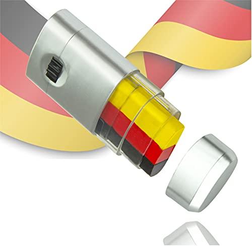 TK Gruppe Timo Klingler Schminkstift Fan Deutschland schwarz, rot, gelb (Gold), als Deko, Dekoration, Partydeko für Fußball, Fußball Europameisterschaft EM 2021