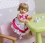 DERUKK-TY Blonde - Muñeca de bebé (55 cm, resistente al agua)