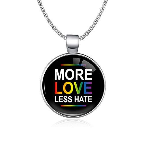 CHIY-GBC El Amor GANA el corazón GLBT para Lesbianas, Gays, bisexuales, transgénero, Hombres, Derechos LGBT, Orgullo, Collares para Mujeres, 65 Cm