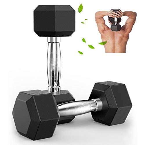 Set di manubri esagonali, regolabili, attrezzi per allenamento in casa, palestra, per donne e uomini (2,5 kg, 5 kg, 7,5 kg, 10 kg, 12,5 kg, 15 kg, 17,5 kg, 20 kg), 2.5kg