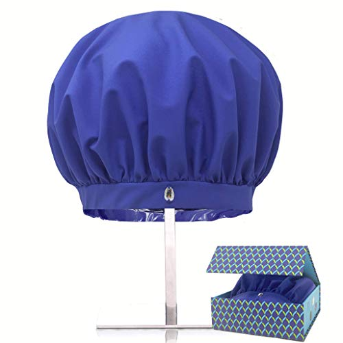 Product Image of the TURBELLA The Only Shower Caps with Waterproof Breathable Technology to Release Humidity | Keeps Long, Curly or Straight Hair Dry + Styled | Adjustable | Washable | Swarovski | Made in USA | GIFT BOX