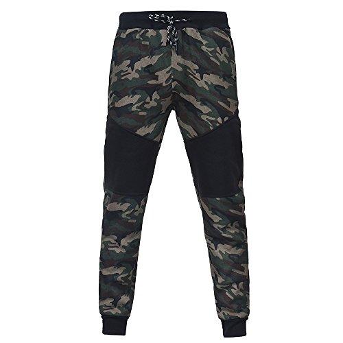 URSING Hommes Pantalons de Sport, Pantalons décontractés, Jeans, Leggings, Pantalons Trou, Pantalons de Yoga, Salopettes Pantalon de Camouflage à Cordon pour Homme