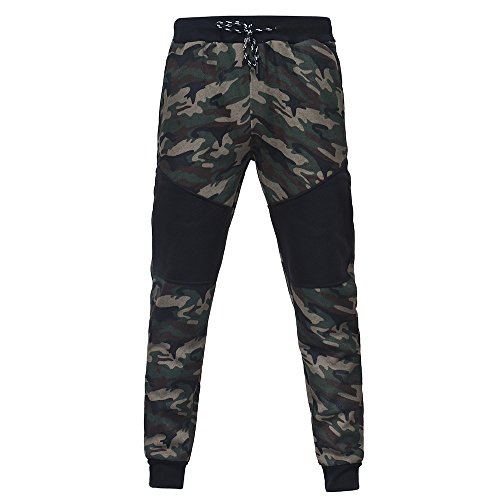 VPASS Pantalones para Hombre,Chándal de Hombres Camuflaje Impresión Pantalones de chándal Sueltos Ocasionales Running Jogging Pantalon Trend Largo Pantalones Yoga Pants