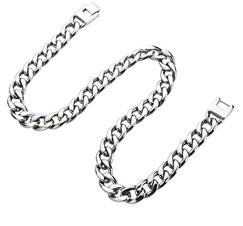 Stainless Steel Necklace Twist 13mm Trendy Chain Necklaces for Men Boy Fashion Silver/Black/Gold Tone Long Chains Jewelry