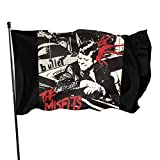 EVEKENNEDY Fly Breeze 3x5 Foot The Misfits Hardcore Punk Rock Band Music Group Flag Vivid Color and UV Fade Resistant Canvas Header and Double Stitched Garden Flags Polyester 3 X 5 Ft