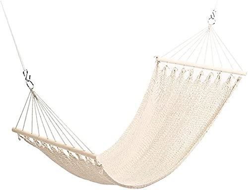 LOXZJYG Cuerda de algodón Malla Fina Hamaca Lazy Swing Adecuado para Silla Colgante Interior y al Aire Libre Casta de Familia Cesta de suspensión 200x80cm