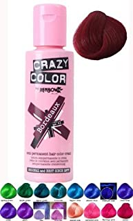 Crazy Color BORDEAUX 51 Semi Permanent Liquid Cream Hair Colour Dye Tint Pack Bottle 100ml by Crazy Color by Crazy Color