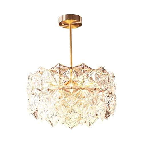 ZXZCHGN DIRIGIÓ Iluminación de araña de cristal, araña moderna K9 Lámpara de araña de cristal, cristal Clear Rumadera Luz de techo Lámpara Colgante Lámpara de montaje en descarga for comedor, Baño, Do