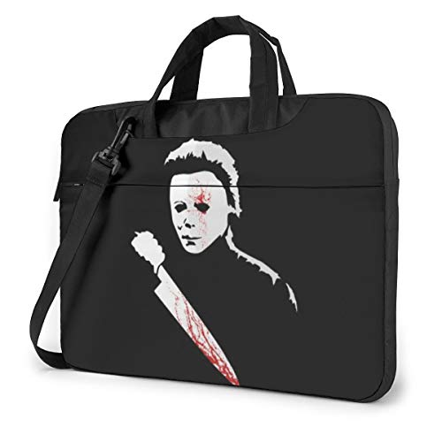 Horror Knife Blood Killer Laptop Sleeve Laptop Bag Tablet Briefcase Ultraportable Protective Handbag Oxford Cloth-for MacBook Pro/MacBook Air/Notebook Computer 15.6 Inch