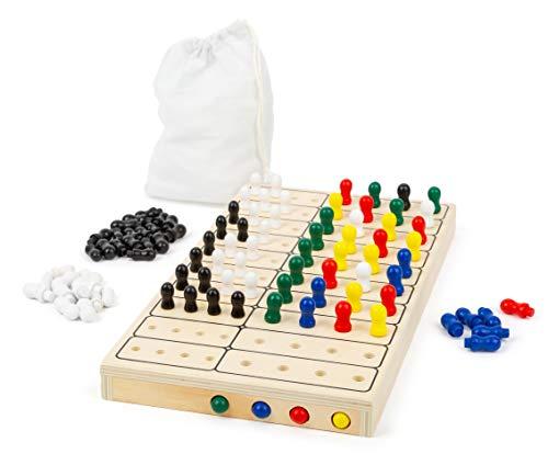 small foot 11364 Logikspiel Geheimcode, Rätselspaß für 2 Personen, mit praktischen Stoffbeutel, 100-tlg, ab 3 Jahren