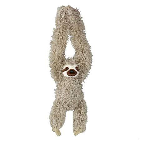 Wild Republic 16387 - Hanging Sloth, Hängendes Plüsch Faultier mit Klettverschlüssen, 44 cm