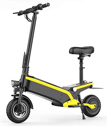 MISTLI Adultos Scooter Eléctrico, Motor De 500W Potente, 10