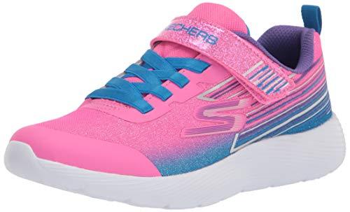 Skechers Kids Girls Sport, Light Weight, Skechers Machine Washable Sneaker, Pink/Multi, 2.5