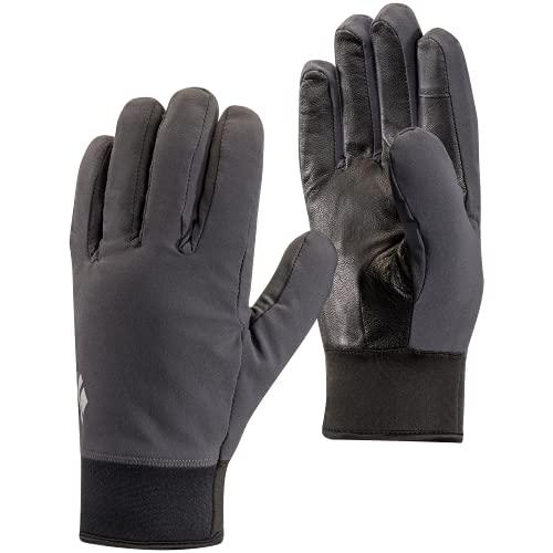 Black Diamond Midweight Softshell Handschuhe aus Stretch-Gewebe / Warme, Touchscreen-geeignete Fingerhandschuhe für Outdoor-Aktivitäten / Unisex, Smoke, Größe: L