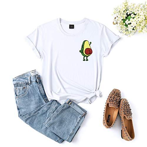 LXHcool Minimalista Aguacate - abocado Camiseta, Estilo de la Manera Camiseta gráfica...