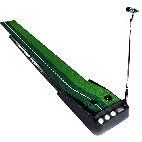 N / B Máquina de Golf, Entrenador de Putter, Sistema de Retorno de Bola automática Mini Plegable Portátil Portátil Capacitación en Interiores Conjunto de Adultos adecuados Oficina en el hogar, Verde