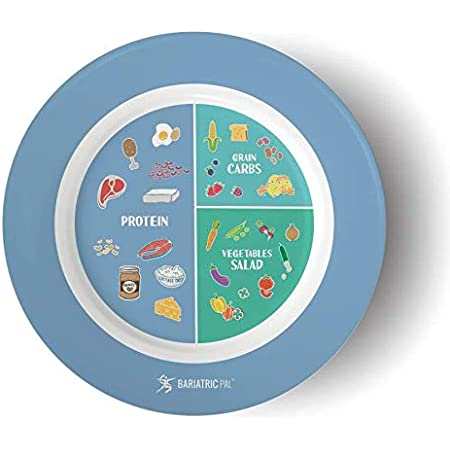 Bariatric Portion Control Plate by BariatricPal 2.0 - Blue