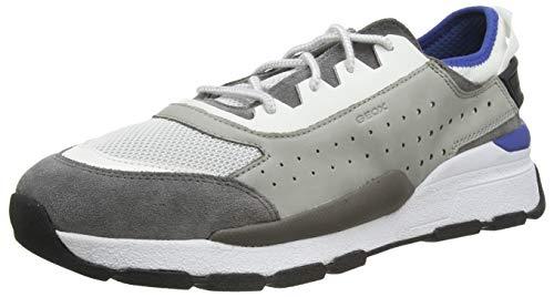 Geox Herren U Regale A Sneaker, Grau (Lt Grey/White C1303), 46 EU