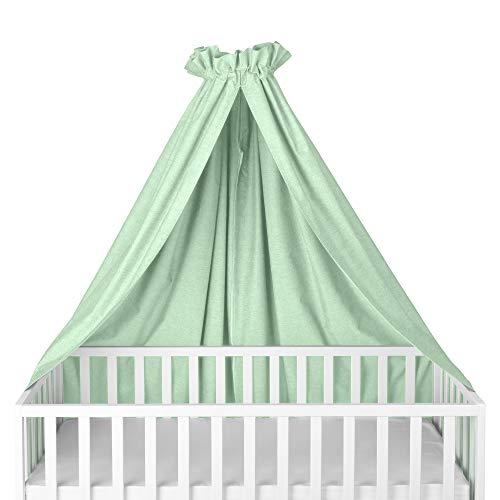Sugarapple Himmel für Kinderbetten, Babybetten seitlich, quer verwendbar, Oxford mint, 100% Öko-Tex Baumwolle, 280x170 (BxH) cm