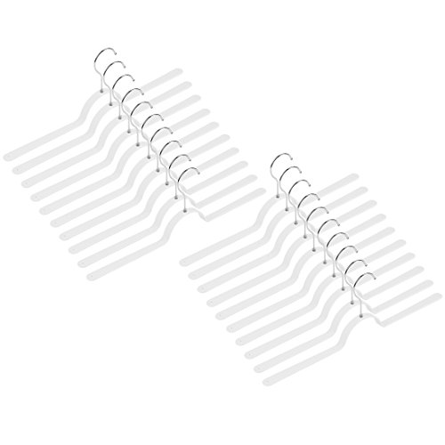 Levivo Kleiderbügel, im 20er Set, Federstahl, weiß, 47 x 2 x cm