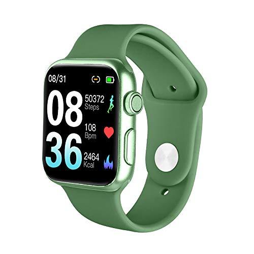 TWW Sportuhr, Sportuhr Leichtbau Design Eingebaute USB-Ladeuhr Echtzeit-Benachrichtigungsfunktion Smartwatch,Grün
