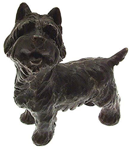 Bronzeskulpturen Bronzefigur Hund Figur Bronzefigur