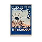 HHRF Greek Island Cruises American Express Co 1950 Lienzo artístico para pared y pared, diseño de viaje retro, 50 x 75 cm