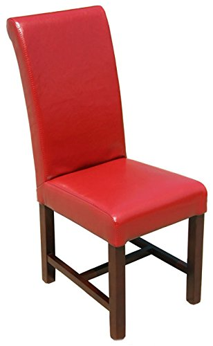 ARTeFAC R-491 High Back Red Leather Restaurant Dining Chair