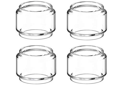 without brand 4 Pezzi di Vetro PYREX Serbatoio Tubo Fit for Geekvape Cerberus Serbatoio atomizzatore Aegis Solo Mini Kit Bubble Lampadina Tubo di Vetro (Colore : 4pcs 5.5ml Glass)