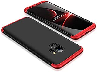 For Samsung Galaxy S9 Case Slim Gkk 360 Protection Cover Case - Red & Black