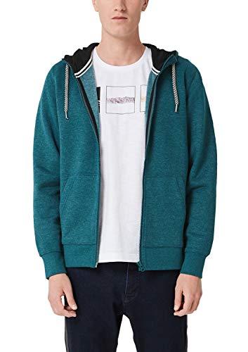 s.Oliver Herren 13.908.43.5249 Sweatshirt, Grün (Metal Green Melange 67w0), Medium (Herstellergröße: M)