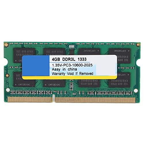 Annadue Modulo di Memoria RAM DDR3L, 4GB/8GB 1333Mhz/1600Mhz PC3-10600/PC3-12800 1.35V 204Pin Laptop Notebook PC Modulo di Memoria RAM del Computer,Completamente Compatibile(1333 MHz 4 GB)