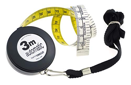 Hoechstmass Balzer 83503C-S Hobby 3 m Cord Roll Measuring Tape 300 cm / 120 Inches Plastic Black 5.7