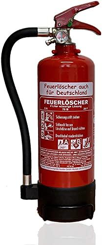 NEU OVP 2 L Fettbrand Schaum Feuerlöscher DIN EN 3 GS , 8 A, 70B, 25F (Ohne Prüfnachweis u. Jahresmarke)