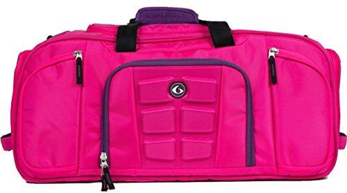 6 Pack Fitness Beast Bolsa de lona con sistema de gestión de comidas aislado, carbón y lima