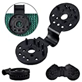 Garden EXPERT Shade Cloth Plastic Clips 20Pcs Accessories Grommets for Net, Mesh, Cover, Sunblock Fabric in Garden Backyard Greenhouse, Black
