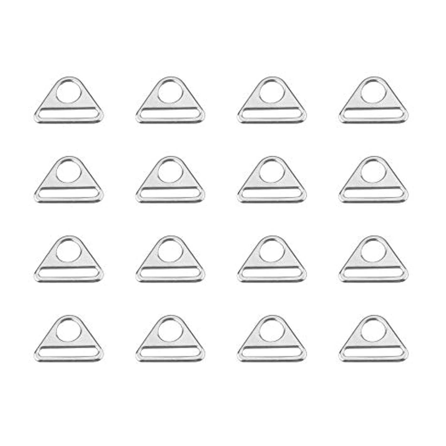 Bluecell 16PCS 1.5inch Triangle Buckle String with bar Swivel Clip D Dee Ring Buckle
