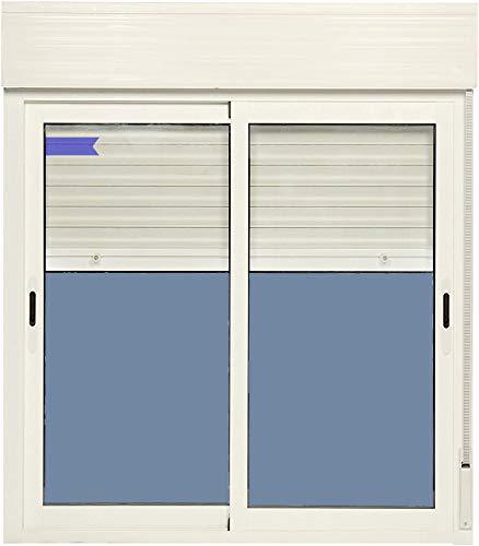 Ventanastock Ventana Aluminio Corredera Con Persiana PVC 1200 ancho × 1355 alto 2 hojas