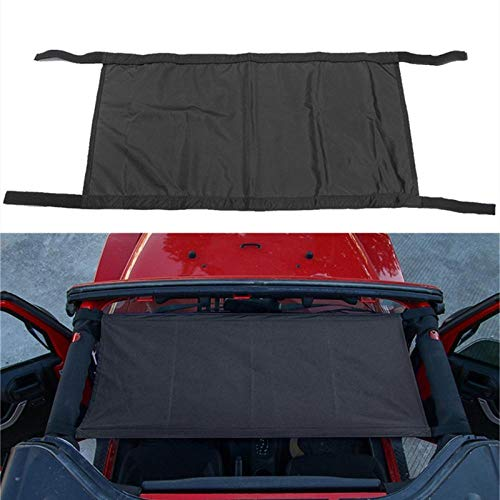 XTBB Roof Tent Car Covers For Jeep Wrangler 1997-2018 Yj/Tj/Jk/Jl Automatic Car Covers Hammock Tent Net Top Roof Storage Car Cover Black
