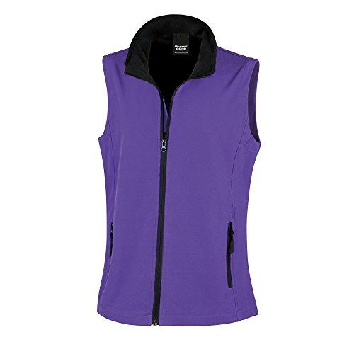 Result Core Damen Softshell-Weste, bedruckbar (2XL) (Violett/Schwarz)