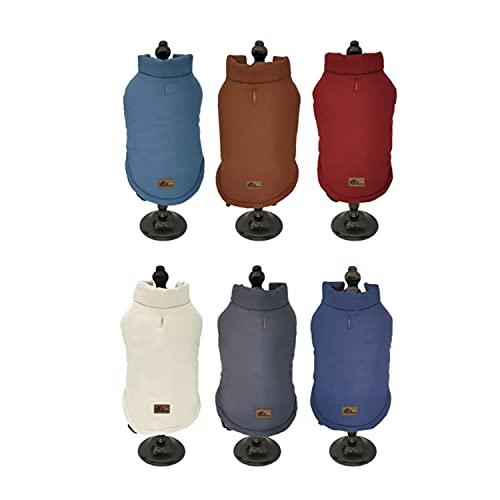 BRAVO. Abrigo para Perro. Chaqueta Impermeable Resistente al Agua y al Viento con Forro Interior de algodón Suave y cálido para Perros Grandes. (Talla S,M,L,XL). (Talla L, Granate)