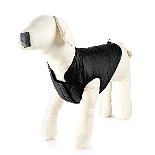 Petacc Dog Winter Coat Dog Vest Sweaters Black