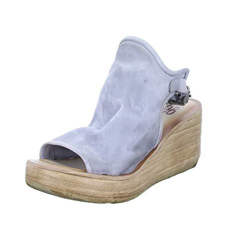 A.S.98 Damen Sandalette 528055 Leder Keilsandale mit Fersenriemchen Grau (Nube) Größe 41 EU