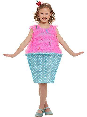 Funidelia | Disfraz de Cupcake para niña Talla 4-6 años ▶ Madalena, Dulce, Comida, Postre - Rosa, Túnica y Diadema