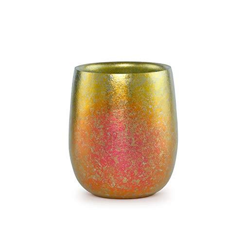 Taza de doble pared de titanio puro, multicolor, ligera, taz