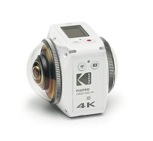 Kodak ORBIT360_4K-WH3 PIXPRO ORBIT360 4K 360° VR Camera Satellite Pack, White