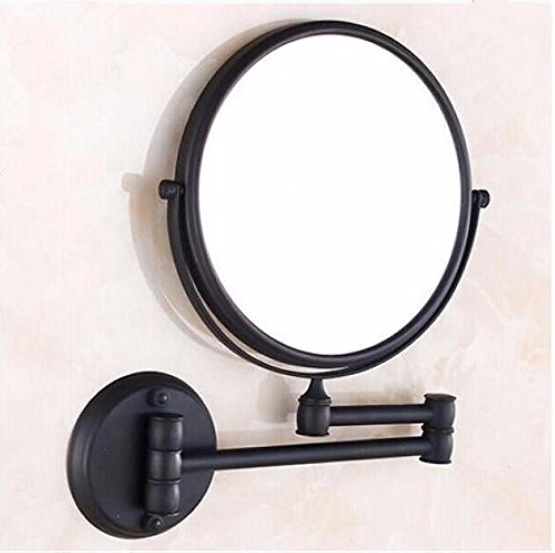 Antique wall mount makeup mirror folding mirror double sided mirror wall mount makeup mirror 8-inch Black