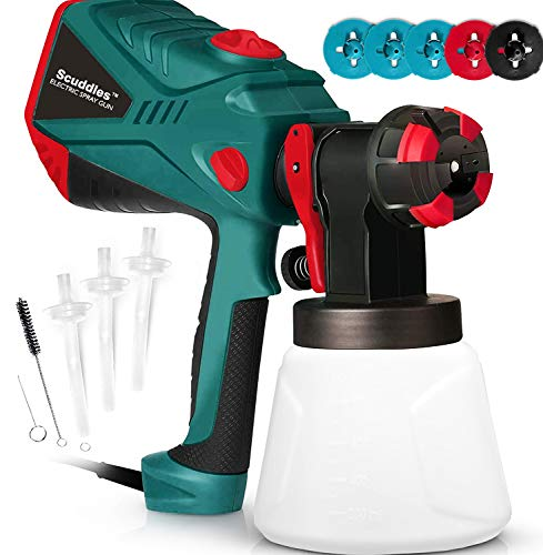 Scuddles Paint Sprayer, 1200 Watt High Power HVLP Home...
